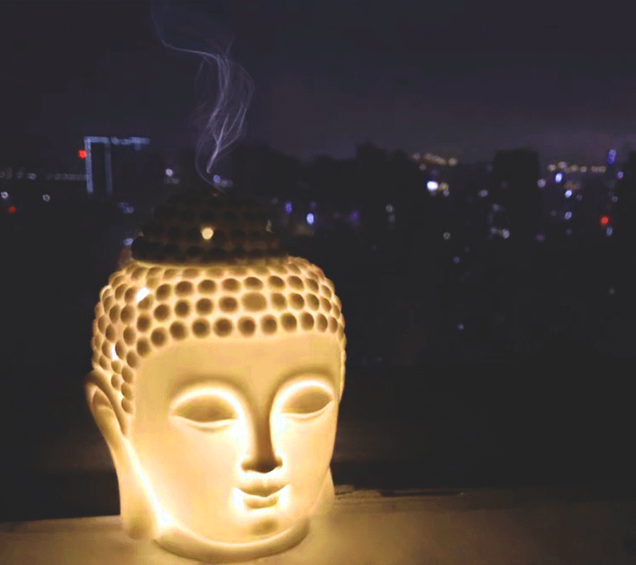 Electric Buddha Aroma Diffuser-Lamp-Oil Warmer-Fragrance Lamp